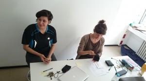 Artists in Residence, Juni 2014, Valentina Boneva und Katharina Kniss