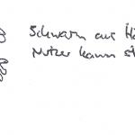 Collagenteile (hier Hände) fliegen als Schwarm durch die Luft und folgen dem Finger des Nutzers