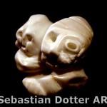 Sebastian Dotter - Jung und Alt Alabaster Skulptur